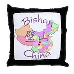 Bishan China Map Throw Pillow