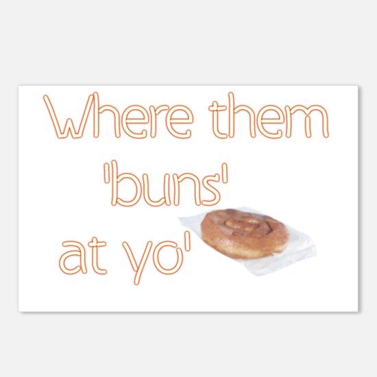 Where my Buns Postcards (Package of 8)