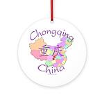 Chongqing China Map Ornament (Round)