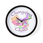 Chongqing China Map Wall Clock