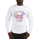 Chongqing China Map Long Sleeve T-Shirt