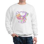 Chongqing China Map Sweatshirt