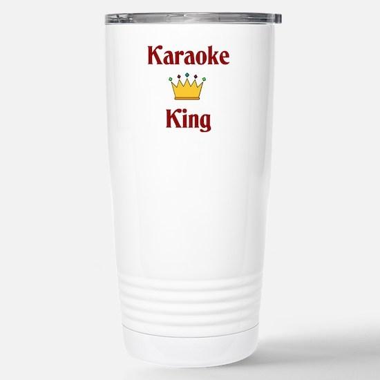Karaoke King Stainless Steel Travel Mug
