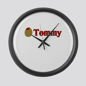 Olive (I Love) Tommy Large Wall Clock