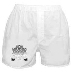 What is a Veteran? Boxer Shorts