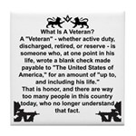 What is a Veteran? Tile Coaster