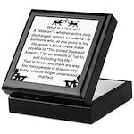 What is a Veteran? Keepsake Box