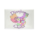 Dianjiang China Map Rectangle Magnet (10 pack)