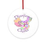 Dianjiang China Map Ornament (Round)