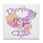 Dianjiang China Map Tile Coaster