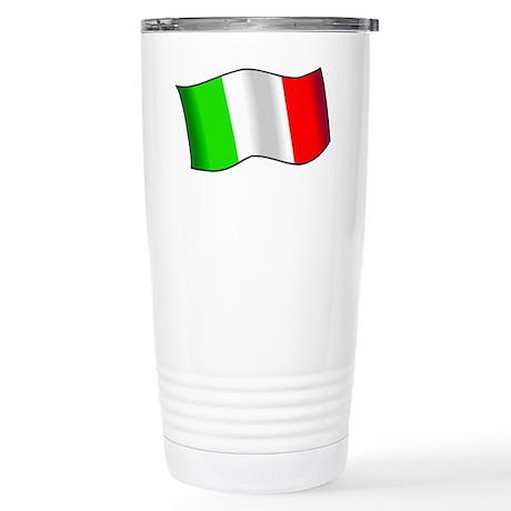 Italian Flag Stainless Steel Travel Mug