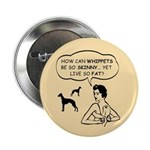 Whippets- Skinny Dog Fat Life Button