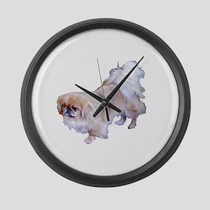 Pekingese Dog Large Wall Clock