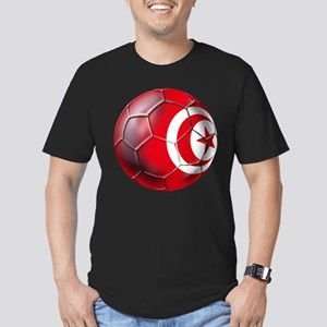 Tunisian Football Men's Fitted T-Shirt (dark)