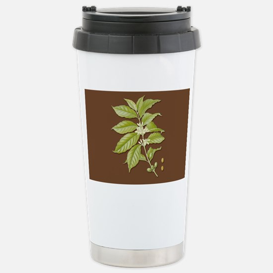 Coffee Plant Stainless Steel Travel Mug