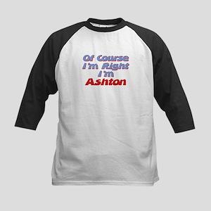 Ashton Is Right Kids Baseball Jersey