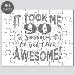 90th Birthday Awesome Puzzle