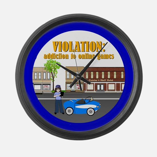 Addiction to Online Games Large Wall Clock