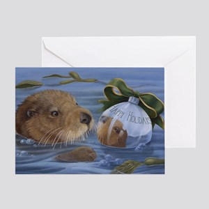 Christmas Otter Greeting Card