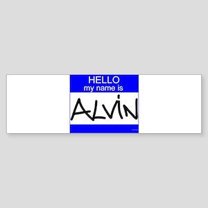 """""""Alvin"""" Bumper Sticker"""