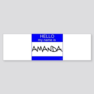 """Amanda"" Bumper Sticker"