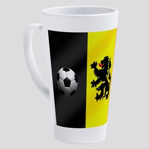 Belgian Football Flag 17 Oz Latte Mug