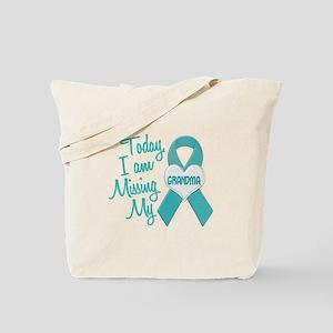 Missing My Grandma 1 TEAL Tote Bag
