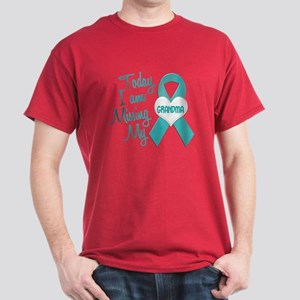 Missing My Grandma 1 TEAL Dark T-Shirt