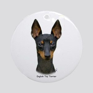 English Toy Terrier 9R095D-013 Ornament (Round)