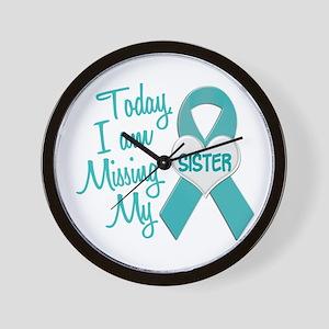Missing My Sister 1 TEAL Wall Clock