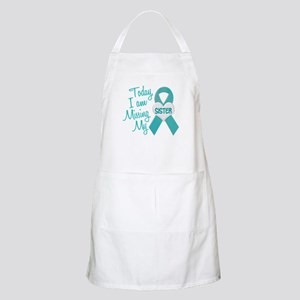 Missing My Sister 1 TEAL BBQ Apron