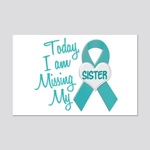 Missing My Sister 1 TEAL Mini Poster Print