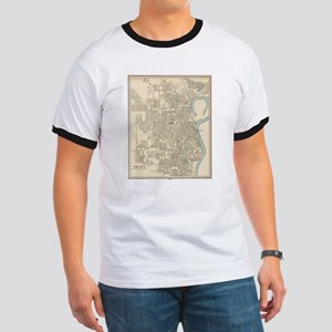 Vintage Map of Omaha Nebraska (1901) T-Shirt