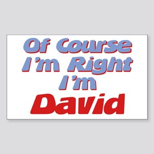 David Is Right Rectangle Sticker