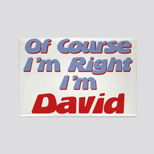 David Is Right Rectangle Magnet