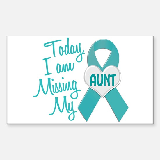 Missing My Aunt 1 TEAL Rectangle Decal