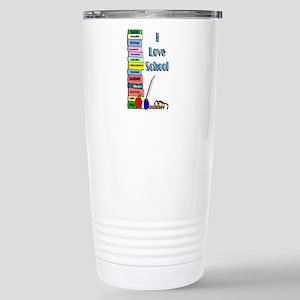 I Love School Stainless Steel Travel Mug