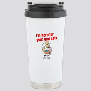 Time for Your Bed Bath! Stainless Steel Travel Mug
