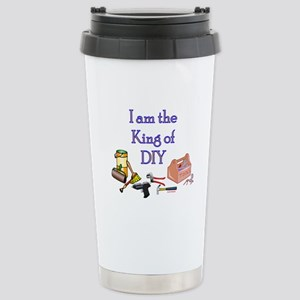 King of D.I.Y. Stainless Steel Travel Mug