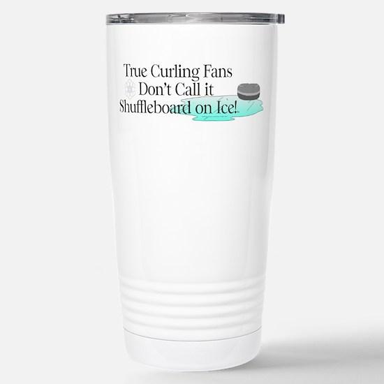 Curling Slogan Stainless Steel Travel Mug