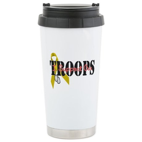 I Support Our Troops Stainless Steel Travel Mug