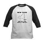 Funny New York Motto Kids Baseball Jersey