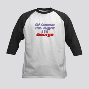George Is Right Kids Baseball Jersey