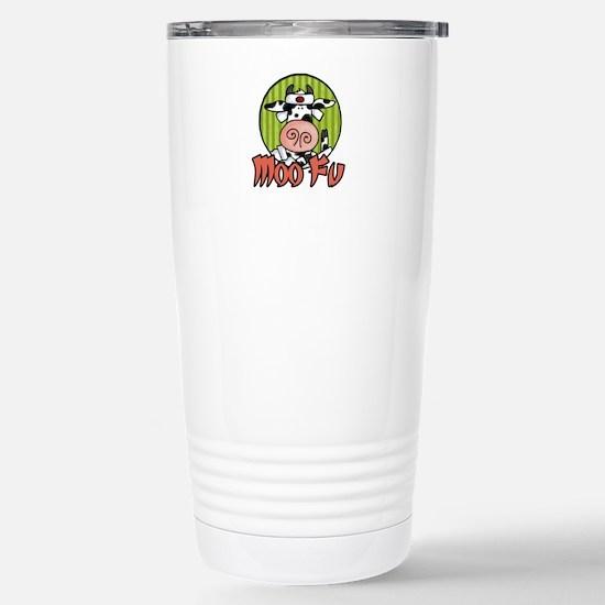 Moo Fu Stainless Steel Travel Mug