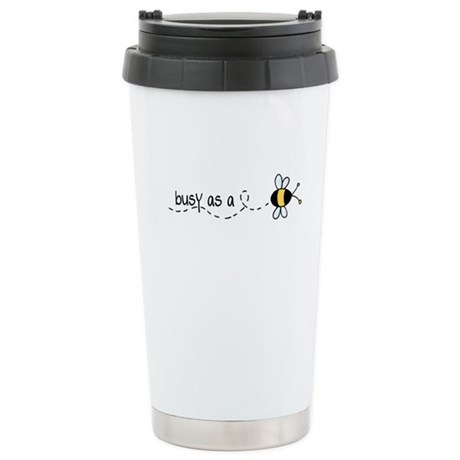 Busy as a Bee Stainless Steel Travel Mug