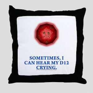 Crying D12 Throw Pillow