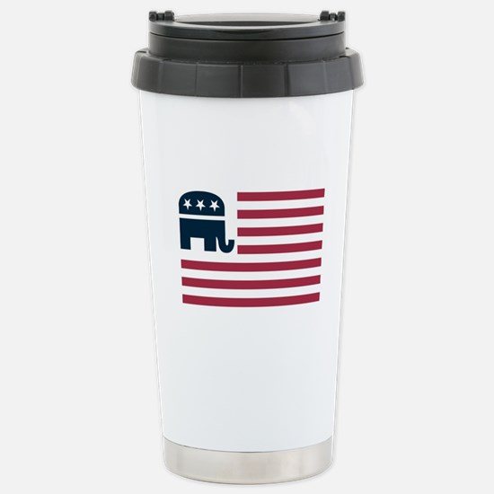 GOP Flag Stainless Steel Travel Mug