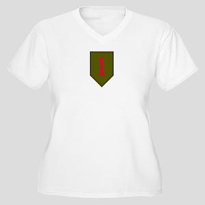 Women's Plus Size V-Neck - Army 1st Infantry