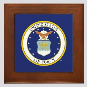 Air Force USAF Emblem Framed Tile