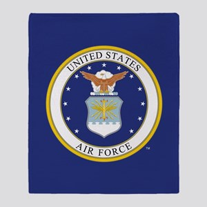 Air Force USAF Emblem Throw Blanket